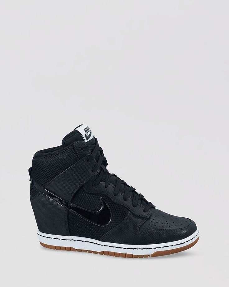 Nike Lace Up High Top Sneaker Wedges- Womens Dunk Sky Hi -8396