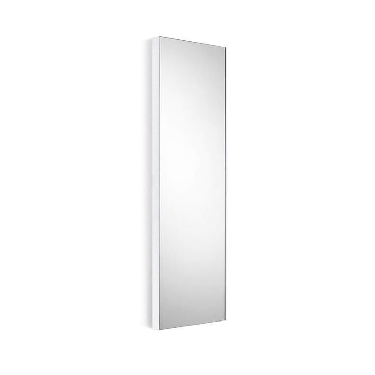 """WS Bath Collections Speci 5673 12-3/4"""" x 39-1/4"""" Rectangular Wall Mounted Framed Mirrored Glass / White Frame Home Decor Mirrors Plumbing"""