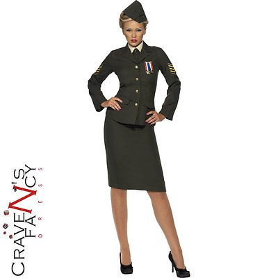 Ladies wartime 1940s army officer military #costume #fancy #dress 8-26 uniform 40,  View more on the LINK: 	http://www.zeppy.io/product/gb/2/172250186336/