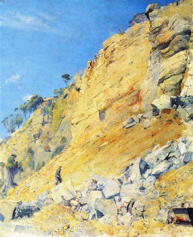 Tom Roberts - The Quarry, Maria Island, 1926