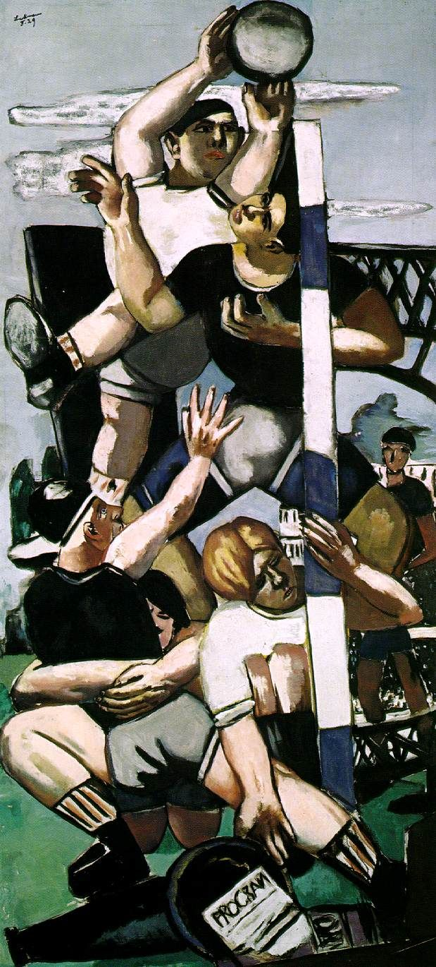 Max Beckmann 'Rugby'  Discover the coolest shows in New York at www.artexperience...