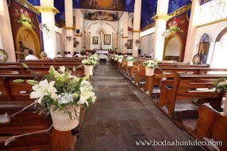 Impresionante decoración de la Iglesia de Guadalupe por Bodas Huatulco