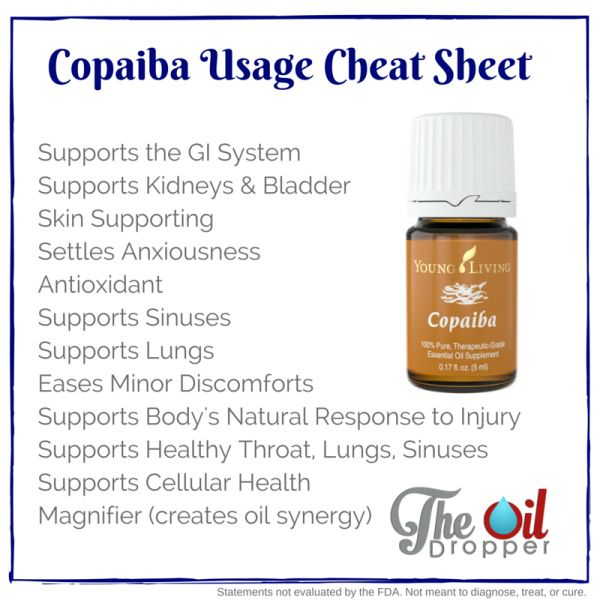 You've got to check out this guide with over 11 different everyday uses for Copaiba essential oils from Young Living. You saw it first from www.theoildropper.com