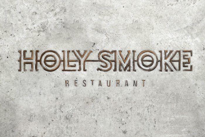 Holy Smoke restaurant branding