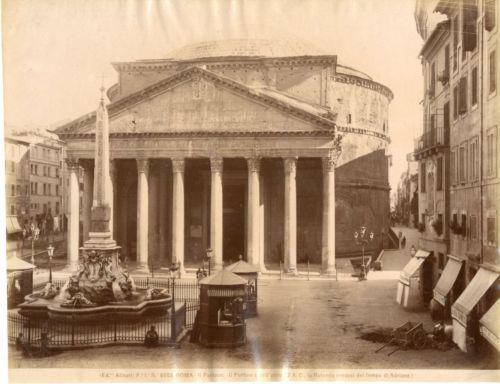 Alinari-Italie-Roma-Il-Panteon-la-rotonda-credesi-del-tempo-di-Adriano-Vint