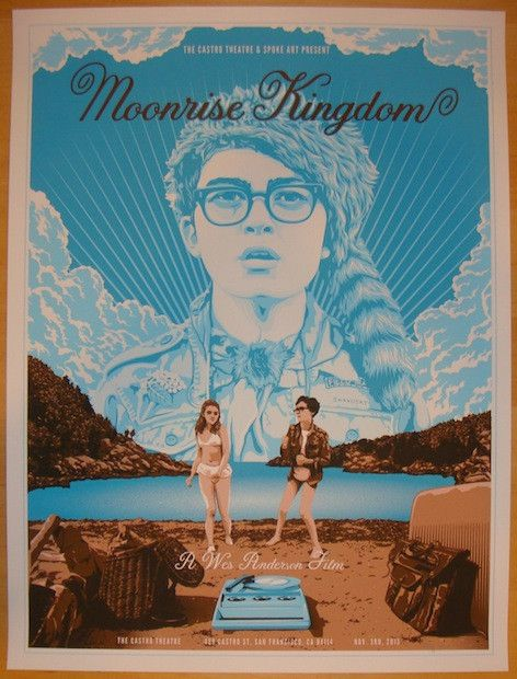 """Moonrise Kingdom - silkscreen event poster (click image for more detail) Artist: Tracie Ching Venue: N/A Location: N/A Date: 2013 Edition: 150; Signed and numbered only Size: 18"""" x 24"""" Condition: Mint"""
