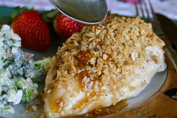 Crunchy Almond Maple Glazed Chicken
