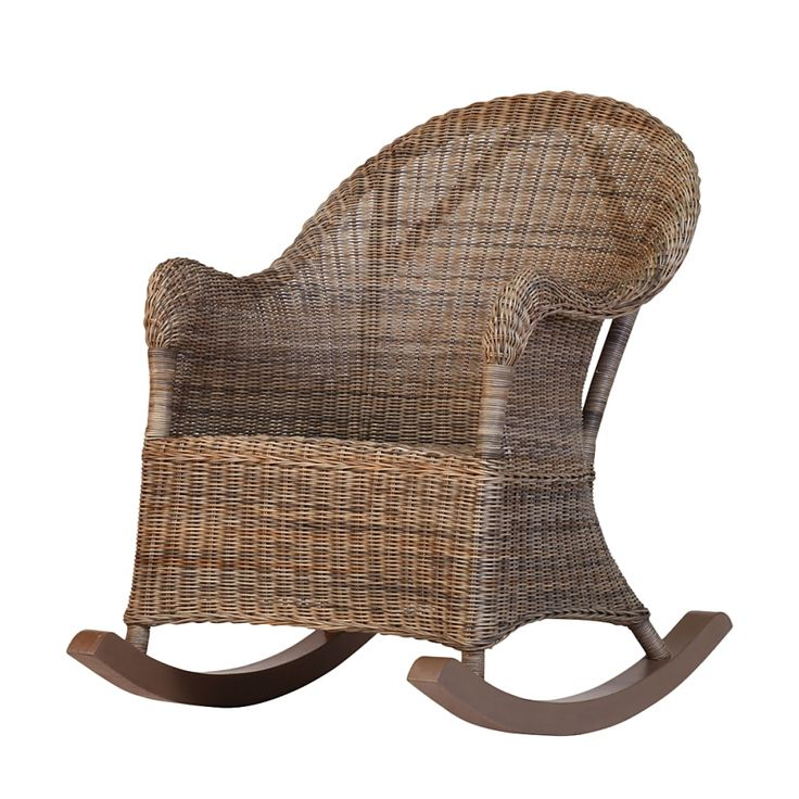 Rocking-chair Sienna - Rotin marron