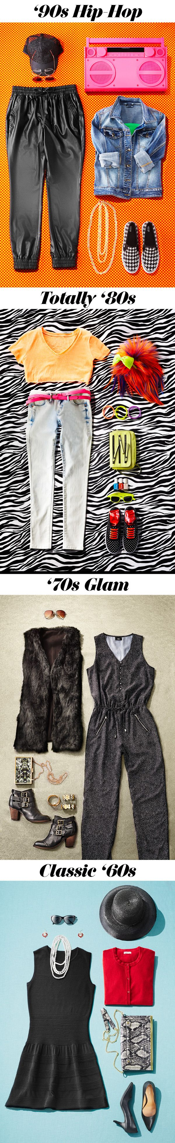 These throwback ideas are perfect Halloween costume inspo and won't take a ton of time to whip up. Bonus: they're some of the smartest purchases you can make—each costume includes some seriously cool (and definitely wearable!) pieces you'll want to rock long after the party ends.