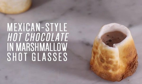 How to Make Spiked Mexican-Style Hot Chocolate in a Marshmallow Shot Glass