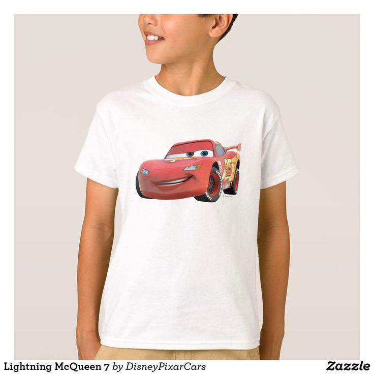 Lightning McQueen 7. Producto disponible en tienda Zazzle. Vestuario, moda. Product available in Zazzle store. Fashion wardrobe. Regalos, Gifts. Trendy tshirt. #camiseta #tshirt