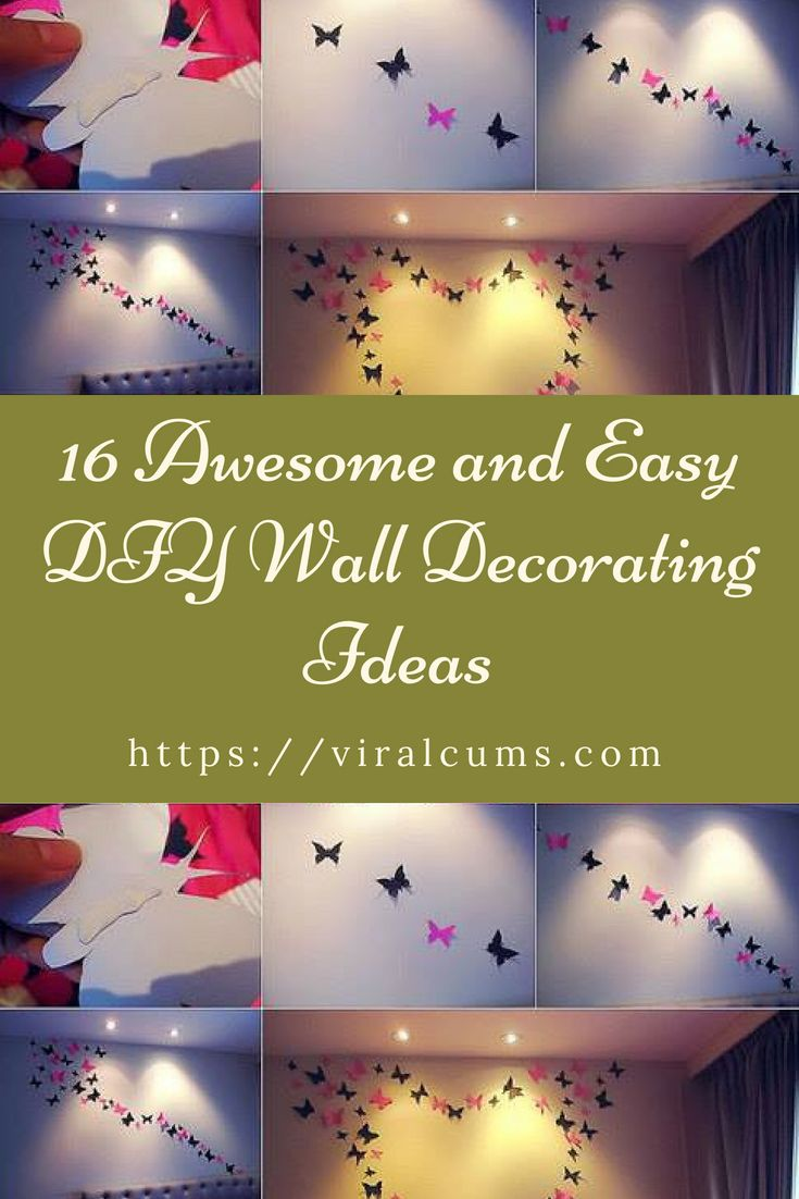 16 Awesome and Easy DIY Wall Decorating Ideas | Diy Ideas ...