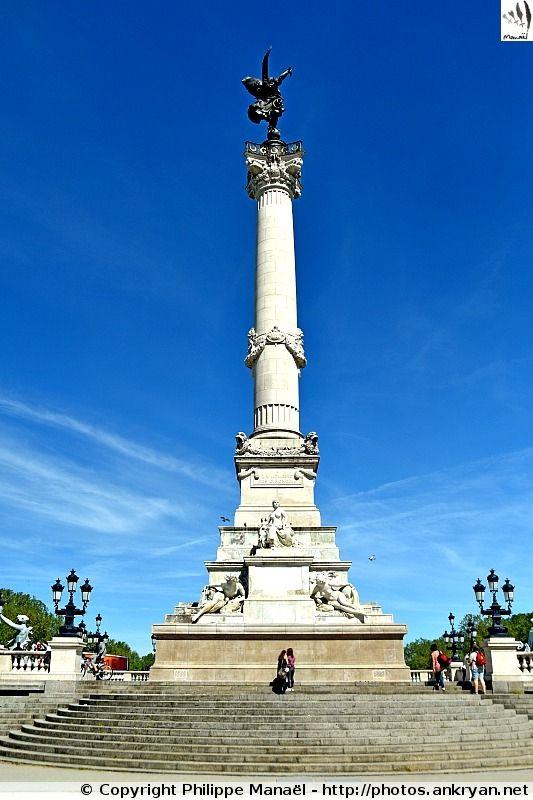 Colonne des Girondins. Place des Quinconces, Bordeaux (Aquitaine, Gironde)