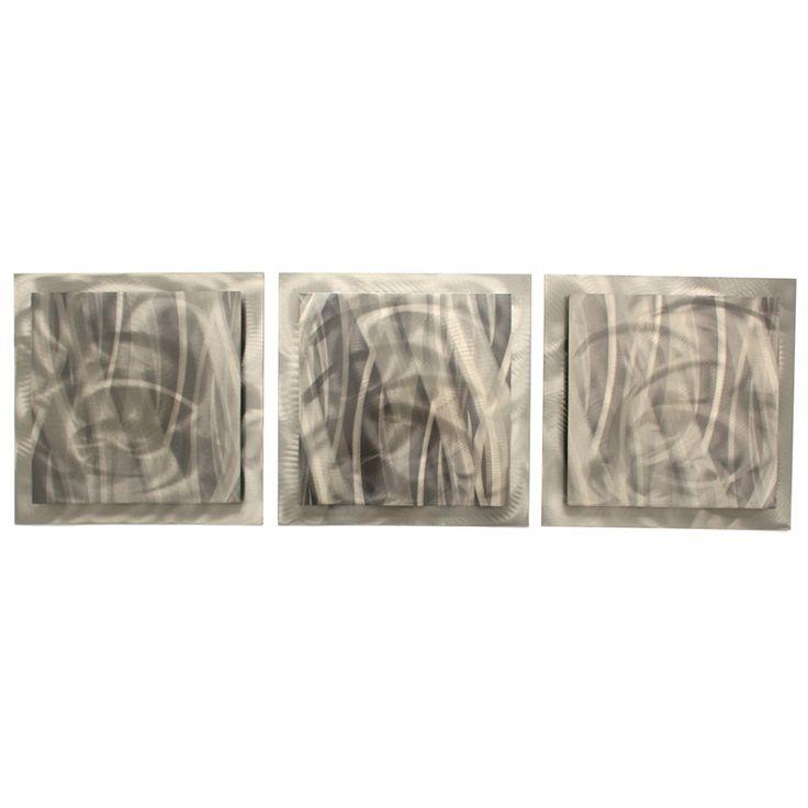 <li>Artist: Metal Art Studio</li> <li>Title: Metallic Essence</li> <li>Product type: Layered 3-panel steel wall art</li>