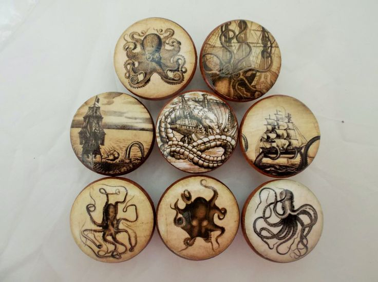 Set of 8 Old World Nautical Cabinet Knobs