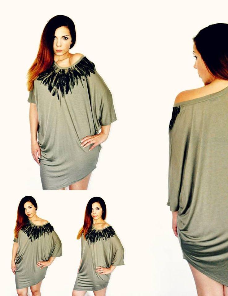 Magnifique robe tunique kaki par #Covet maintenant disponible en ligne  http://maddiemalone.net/boutique/robe-tunique-kaki-covet