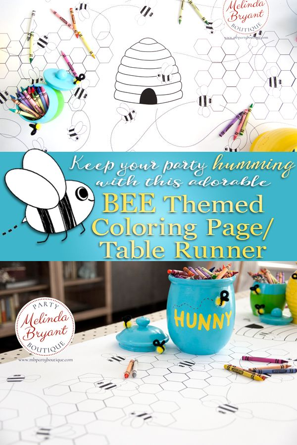 It S A Beautiful Thing When Kids Stay At The Table While You Dish Up Their Cake And Ice Cream Birthday Coloring Pages Bee Themed Birthday Party Bee Theme Party