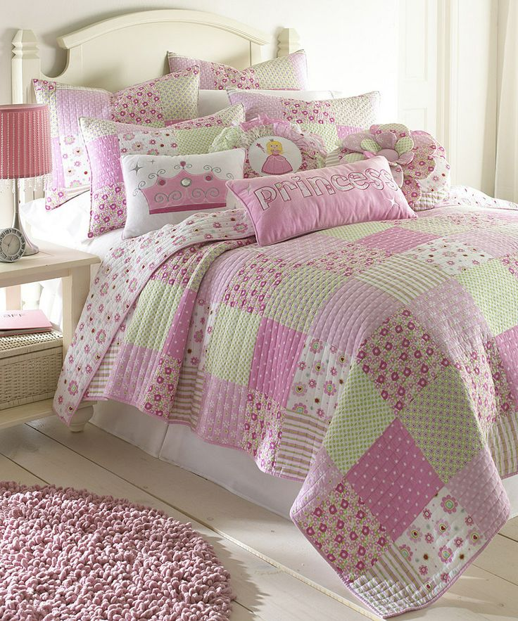 Loving this Princess Patch Quilt Set on #zulily! #zulilyfinds