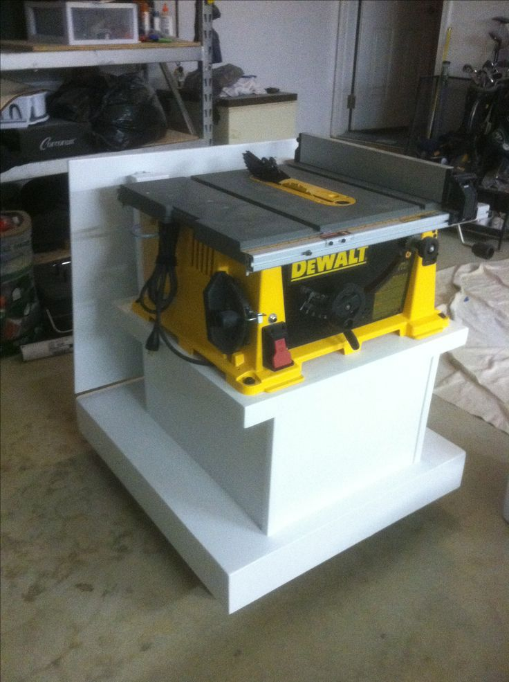 Custom Dewalt Table Saw Caddy W Flip Up Extension Finished Projects Pinterest Table Saw