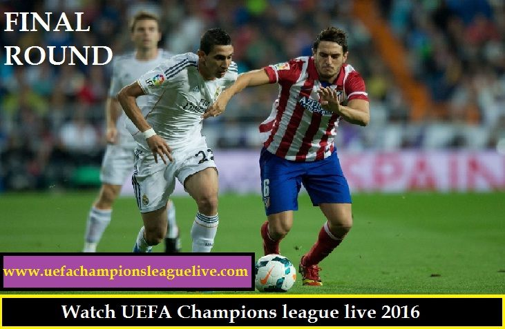 Watch here UEFA Champions league Match between Real Madrid vs Atlético Madrid live on Saturday, May 28, 2016 at from San Siro Stadium in Milan, Italy. Watch Live Real Madrid vs Atlético Madrid Match in UEFA Champions league, Watch live streaming Real Madrid vs Atlético Madrid online .Watch Live UEFA Champions league in hd quality,  LIVE STREAM HERE::::  http://www.uefachampionsleaguelive.com/
