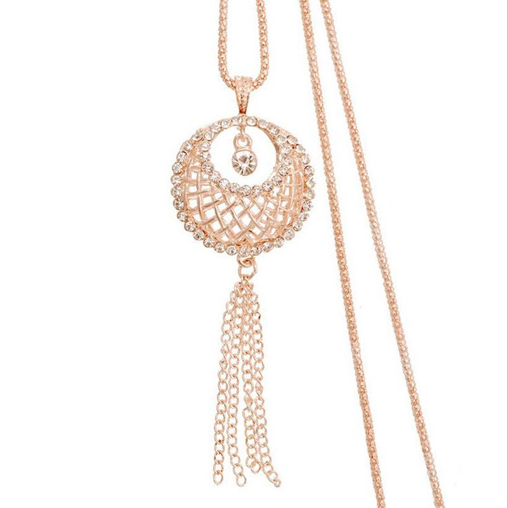 2016 New arrival Personalized bird nest necklace  female Korean long paragraph sweater chain tassel crystal  small jewelry