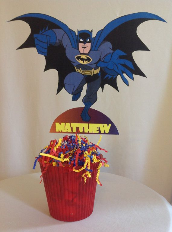 PRINTABLE DIY Batman Party Centerpiece by PartiesByTristan front and back included on Etsy, $4.00