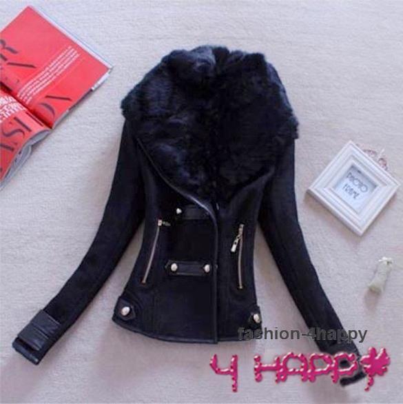DÁMSKÉ OBLEČENÍ | Dámské kabáty | Dámská bunda krátká flauš 7033630-2 černá XS/S | www.fashion-4happy.cz