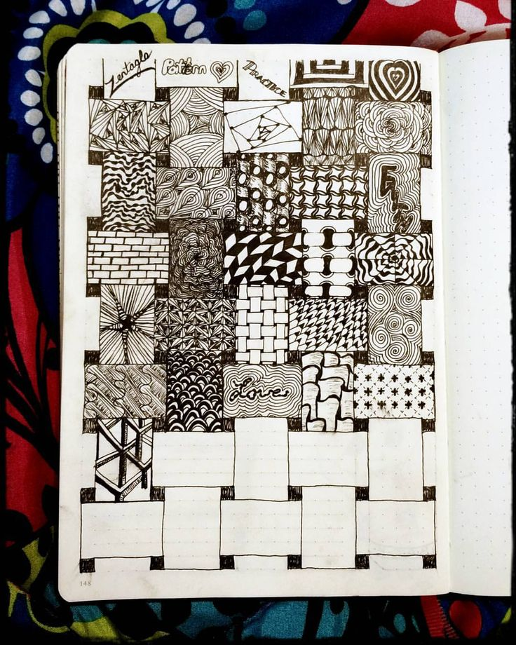 """72 Likes, 4 Comments - Amanda Lynn (@banjobaby83) on Instagram: """"Just a few more to go & my page will be done! This zentangle idea is fun! #zentangle #zentangleart…"""""""