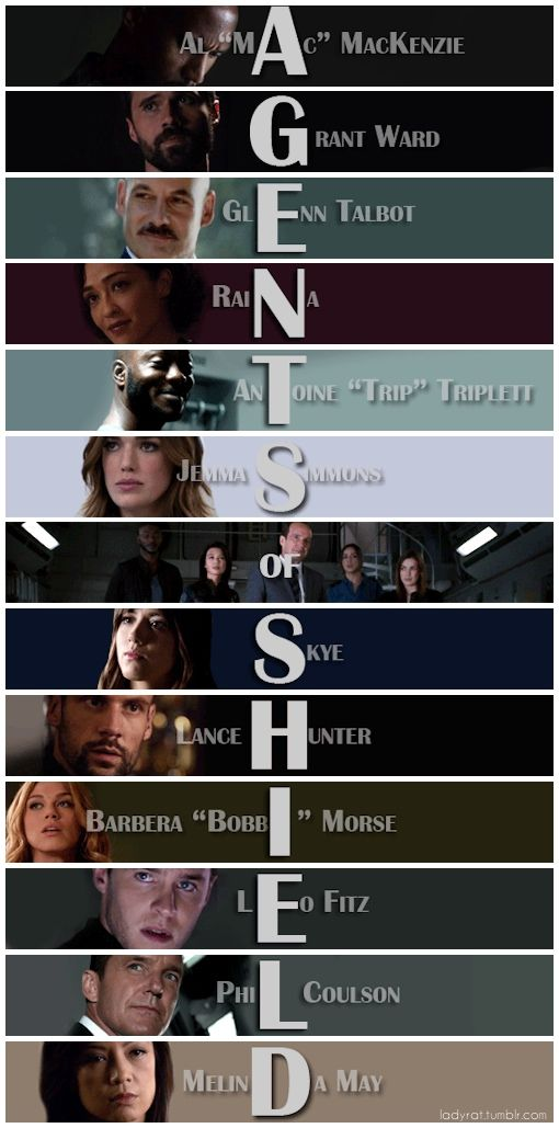 AGENTS of SHIELD || Fandom Acrostics by LadyRat || #fanedit