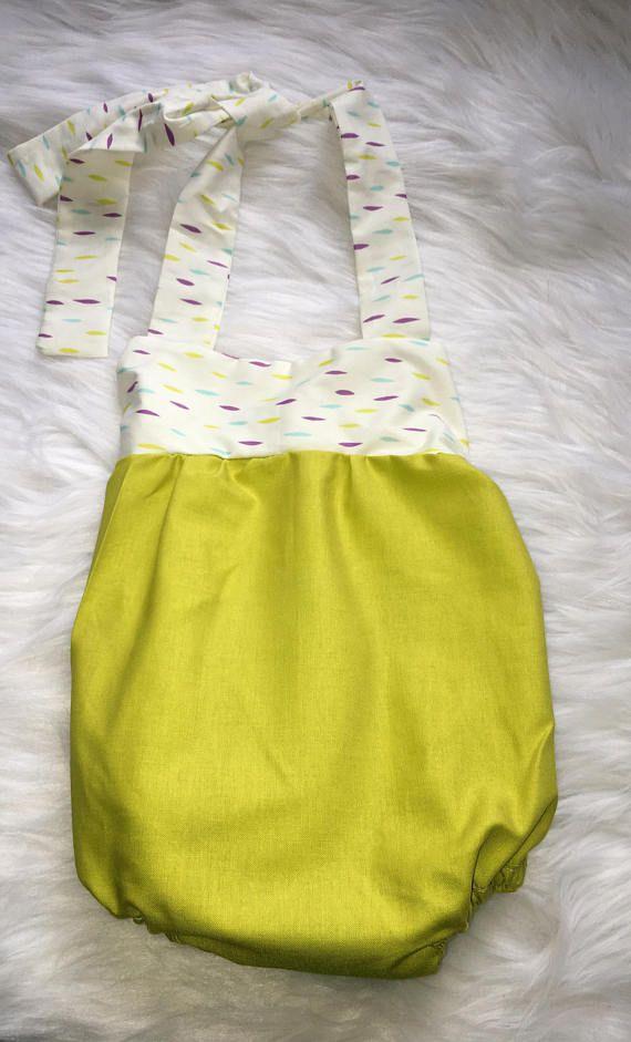 Lime green baby girl romper romper baby romper baby girl