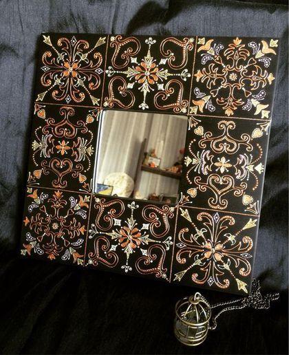 """Зеркала ручной работы. Ярмарка Мастеров - ручная работа. Купить Интерьерное зеркало """" Версаль"""". Handmade. Зеркало, точечная роспись"""