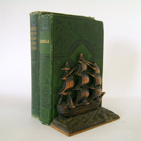 ship book ends are perfect for a nautical inspired room