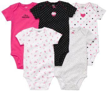 Model Pakaian Bayi - Carters Gadis Newborn-24 Bulan Pink 5 Lengan Pendek Bodysuit   Pusat Baju Bayi Terbesar dan Terlengkap Se indonesia