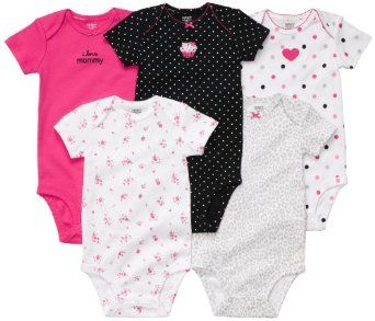Carter's 5-Pack Short Sleeve Bodysuits - I LoveMommy - 9M Carter's. $19.45