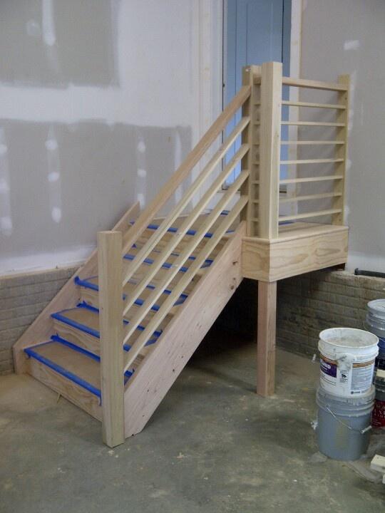 Finished Stair Garage Stairs Garage Door Design Garage