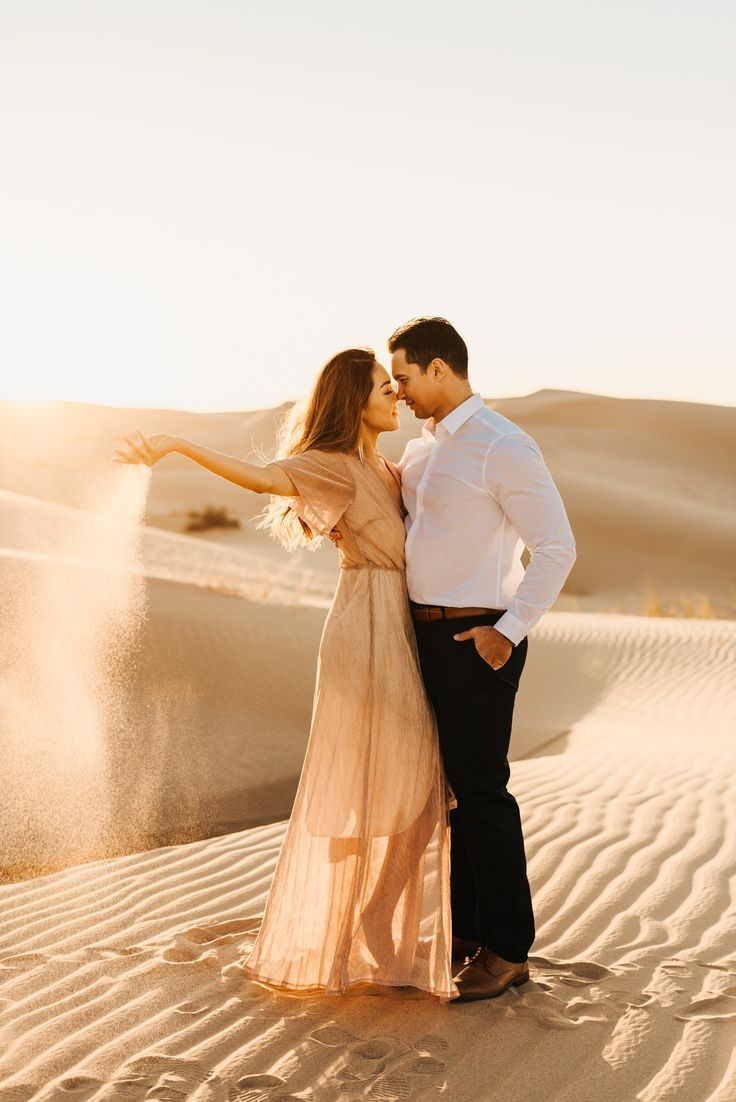 Dreamy sand dunes engagement session
