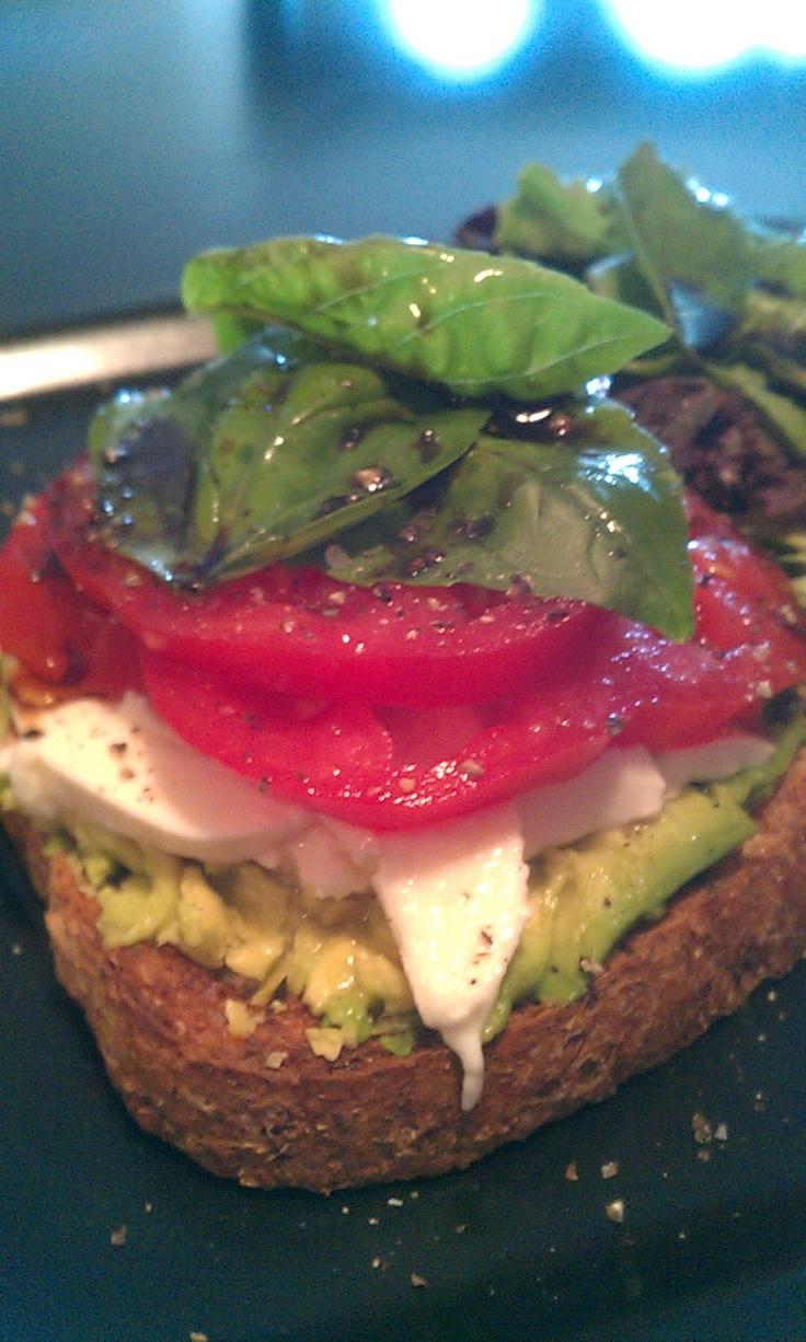 Holliday Holistic Health: Open faced avocado-caprese sandwich