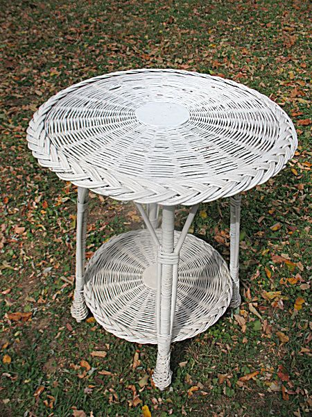 Antique Wicker Table