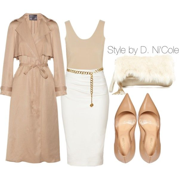 A fashion look from November 2014 featuring Commando tops, Lanvin coats and Donna Karan skirts. Browse and shop related looks.