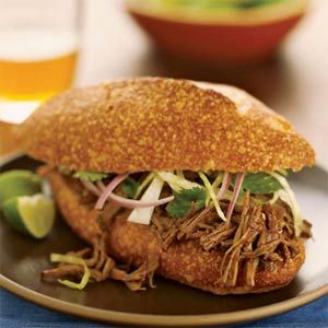 Spicy Shredded Beef | MyRecipes.comSour Cream, Slow Cooker Recipe, Shredded Beef, Crock Pots, Slow Cooking, Beef Recipe, Whole Food, Spicy Shredded, Sloppy Joe