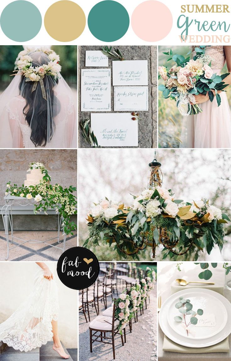 Nature Inspired Wedding Theme { Green Wedding Theme } fabmood.com