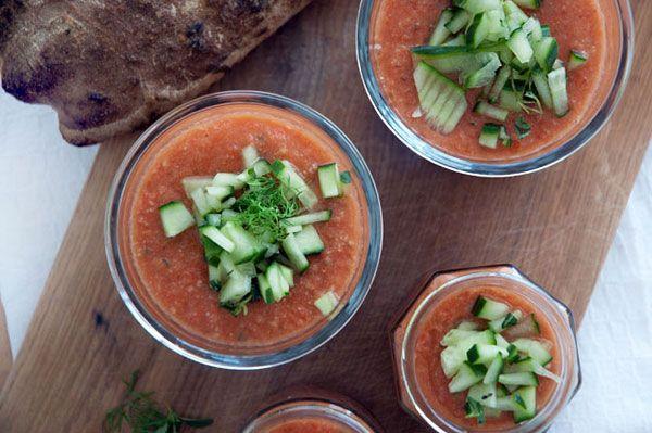 Gazpacho - Kold tomatsuppe til 4 personer