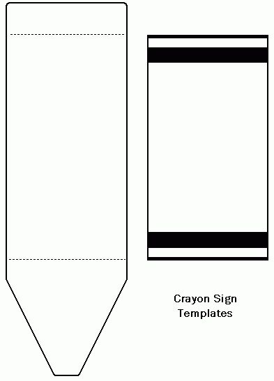Freecraftunlimited Crayon Template Cards Preschool Colors School