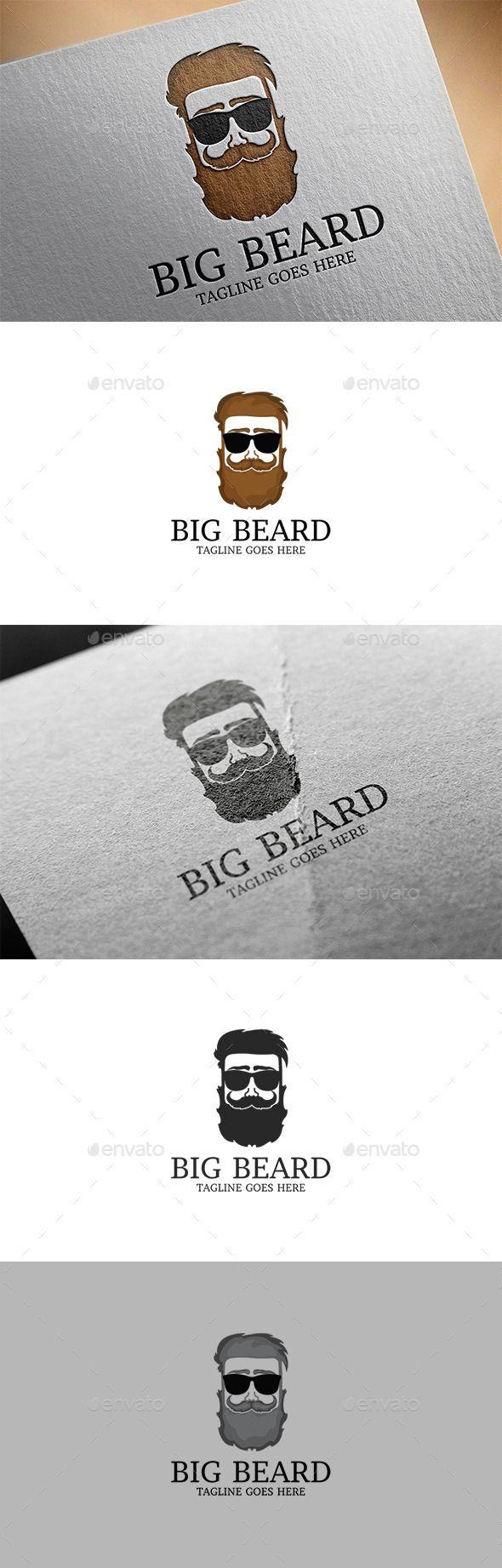 Beard Logo Design Template Vector #logotype Download it here: http://graphicriver.net/item/beard-logo/11933175?s_rank=1470?ref=nexion
