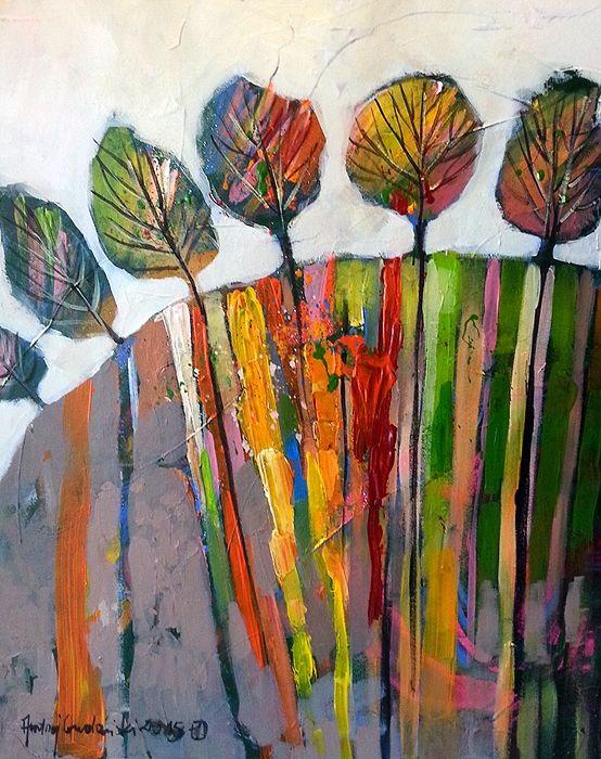 On The Hill 20x16 by Andrzej Gudanski on ArtClick.ie  Landscape Art