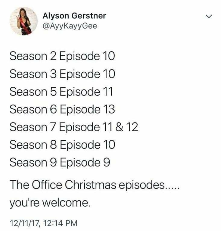 Office Christmas Episodes.List Of The Office Christmas Episodes Helpful Alert