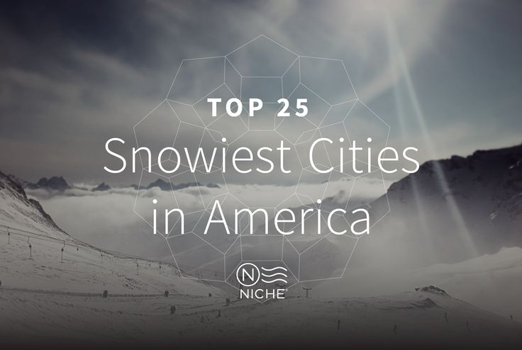 Top 25 U.S. cities with the most snowfall. Syracuse, Erie, Rochester, Buffalo, and Flagstaff are the Top 5.