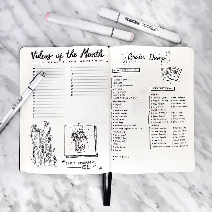 """503 Likes, 11 Comments - Amanda Lee (@amandarachdoodles) on Instagram: """"i love having brain dump pages in my bullet journal  (also yes i blurred out the text bc i can't…"""""""