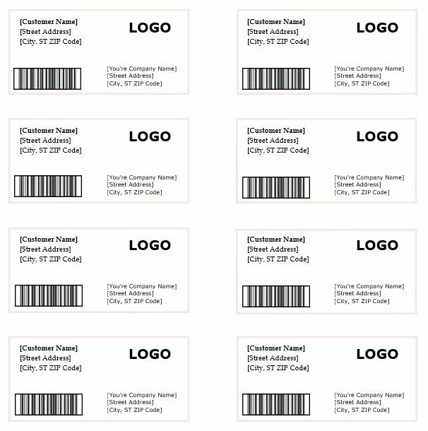 Shipping Label Template Free Awesome Shipping Label Template Microsoft Word Templates Address Label Template Label Templates Printing Labels