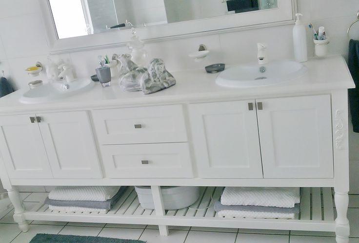 Country / White Duco Bathroom Vanity